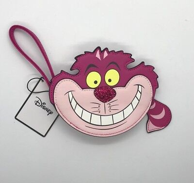 Primark Disney Alice In Wonderland Purse Cheshire Cat BNWT Grinning Pink Face
