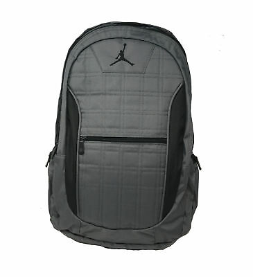 df27a113a8 NEW Nike Jordan Jumpman Lockdown Grid 2 Sz L Laptop Backpack 9A1137 783  Graphite
