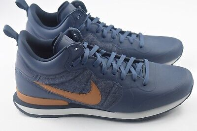 Nike Internationalist Mid Utility Mens Size 8 Shoes Blue Brown 857937 401 90a5a95b6