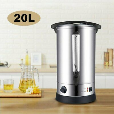 20L Commercial Electric Catering Tea Urn Coffee Hot Water Boiler Urn Bucket Bar