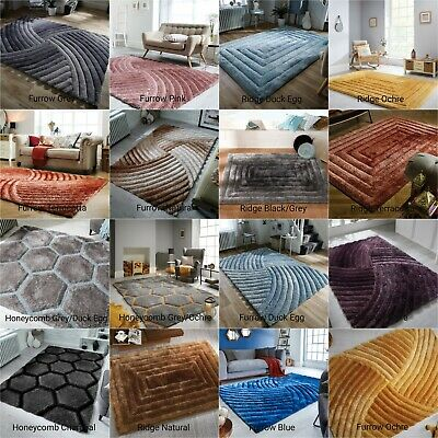 Modern Quality Thick Soft Shaggy 3D Effect Rug in Different Designs Home Carpet