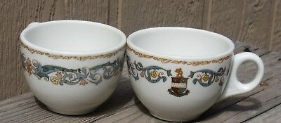 2 Lovely Vintage Coffee Cups Historic Stevens Hotel Chicago from Marshall Field