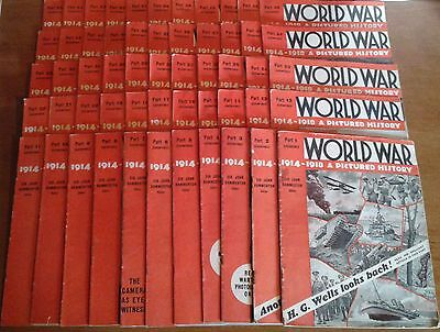 WORLD WAR 1 ONE 1914-18 PICTURE HISTORY MAGAZINE (1934) - COMPLETE PDFs ON DVD