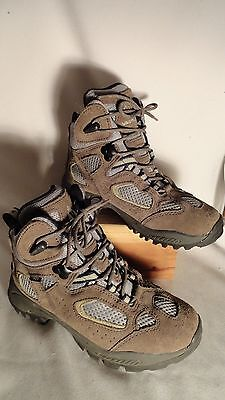 Vasque #7201, Brown Leather/Fabric, Waterproof Boots, Youths (6-10) 2M