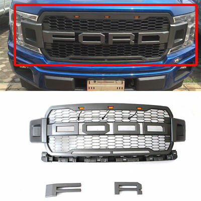2018 F150 Raptor Style Front Grille Upper Grill For Ford F-150 18 Gray