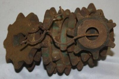 Lot Of 8 Vintage Industrial Farm Cast Iron Gears Steampunk Usa