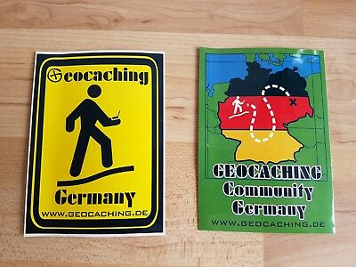 "Geocaching Aufkleber ""Geocaching Germany"" Deutschland Cache-Note"
