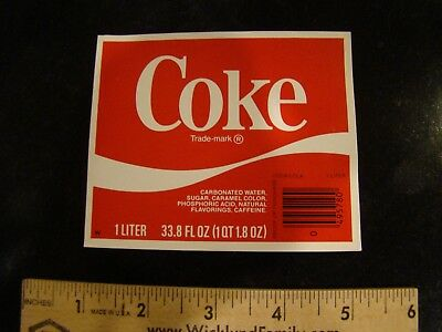 Unused Coca Cola label for Coke bottle