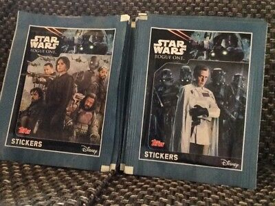 "George Lucas STAR WARS ""Rogue one"" TOPPS Stickers 50 Tüten"