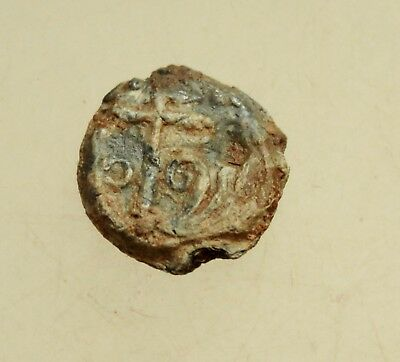Ancient Byzantine Lead Seal D=16mm 4g