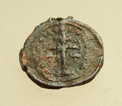 Ancient Byzantine Lead Seal D=22mm 6g