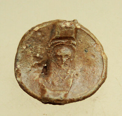 Ancient Byzantine Lead Seal D=25mm 12g