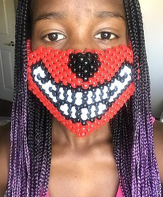 Red wolf kandi mask EDC, Ultra, Raves, Festivals, EDM
