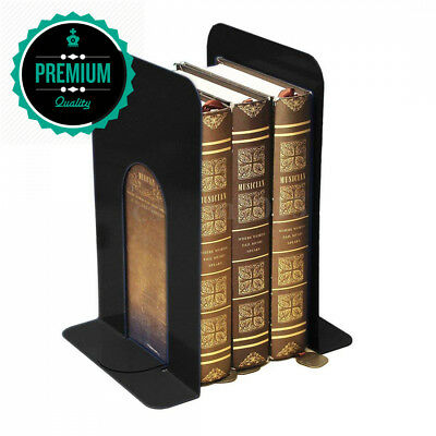 JJOnlineStore 2pcs of Universal Metal Bookends Stand Black Front Back Book...
