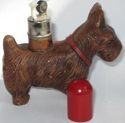 Vintage 1940s SCOTTIE TERRIER DOG lighter tobacco lighter, never used