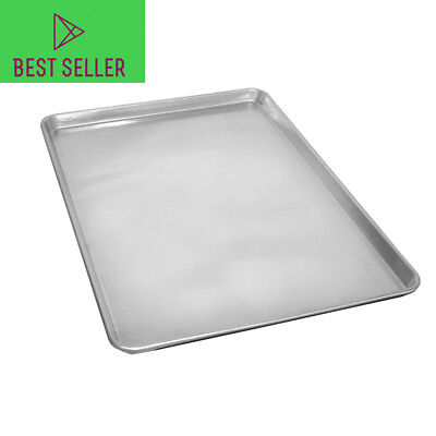 """Full Size Commercial Grade Aluminum Cookie Sheet Baking Tray Pan - 18"""" x 26"""""""