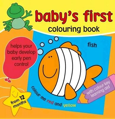 Baby's First Colouring Books Colour-In-Line Book With Colour Key