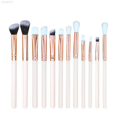 19F8 12pcs/Set Wooden Handle Women Fashion Smooth Makeup Brushes Tool Face Care