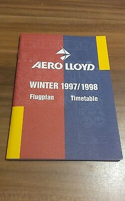 Flugplan Timetable AERO LLOYD Winter 1997/1998 *** selten, very rare ***