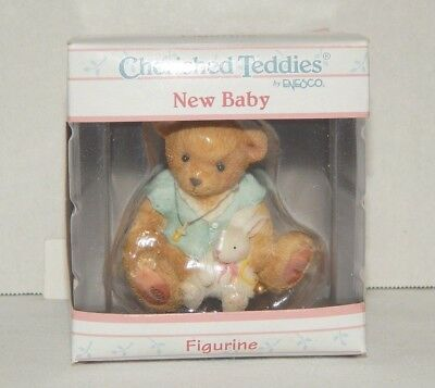 2001 Cherished Teddies NEW BABY Bear with Bunny Pacifier 109965 New BOX NIB
