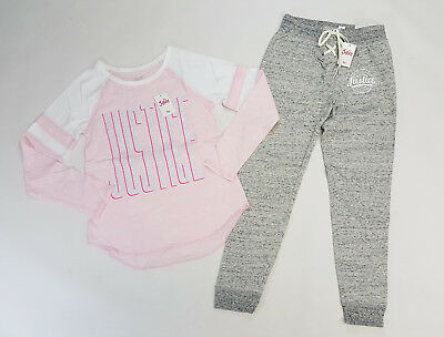 NWT Justice Girl Outfit Size 6//7 8 10 12 14//16 18//20 Raccoon Top /& Purple Shorts
