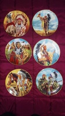American Indian FULL SET of FRANKLIN MINT collector plates: