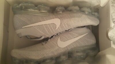 Nike Air Vapormax Flyknit Pure Platinum White/Wolf Grey 849558 004 Men's Size 11