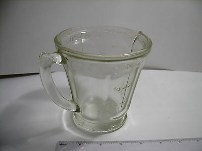 Antique Measure Thick/solid Glass Jug Medical Pharmacy Measuring