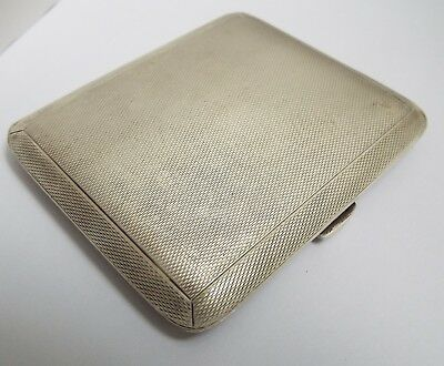 Superb Clean Condition English Antique 1937 Solid Sterling Silver Cigarette Case