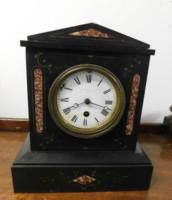french slate timepiece mantel clock