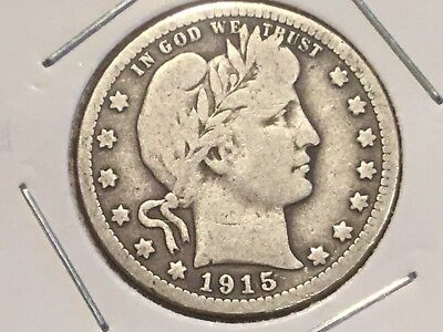 "1915 US ""Liberty Head"" quarter dollar"