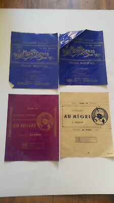 lot emballages plaquettes  CHOCOLAT , le negre , colonie , Mont cenis , alpes