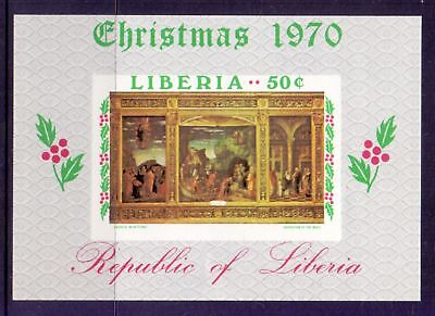 Liberia  1970  Mini sheet, Christmas, MNH.