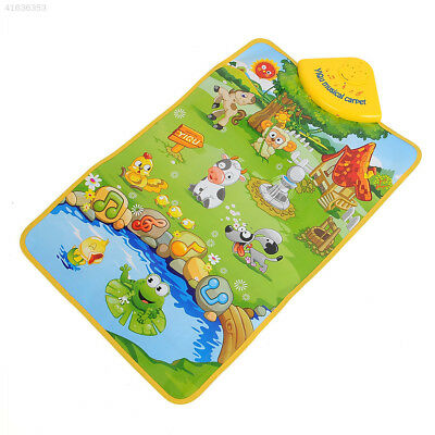 0B64 HOT Musical Singing Farm Kid Child Playing Play Mat Carpet Playmat Touch