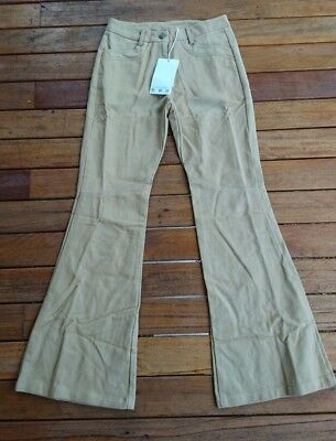 FAB TAN HITCHHIKER FLARES by GOLDEN BROWN THE LABEL SIZE S NEW WITH TAGS