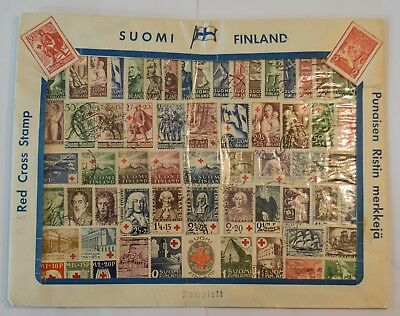 Finland 1922-1946 Complete Red Cross Stamps Collectors Set 62pcs