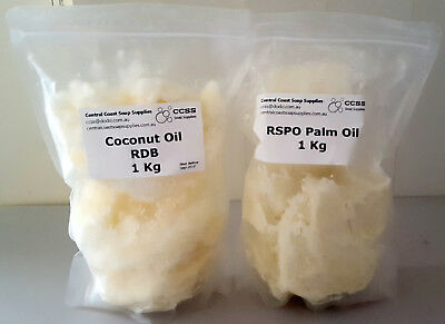 2kg Soap Making Kit 1kg Coconut Oil 1kg RSPO Palm Oil Aussie Seller