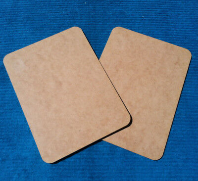 "2pk KAISER WOOD ""Raw Brown"" DIY Craft Project MDF Placemats Wooden Panels"