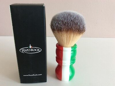 RazoRock 'Italian barber' Plissoft shaving brush, BNIB, LOW-START, NO-RESERVE