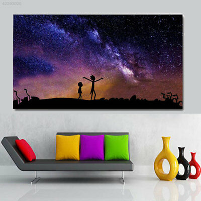 4952 Home Paintings Rick and Morty Large Poster Craft Bar