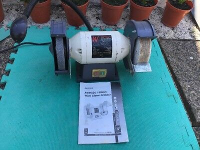 Axminster White AWBGDL Wide Stone Grinder ref 700009 Woodturning wood lathe