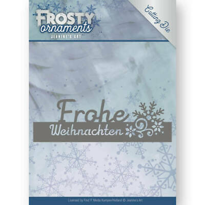 Stanzschablone - Jeanines Art - Frosty Ornaments - Text - Frohe Weihnachten