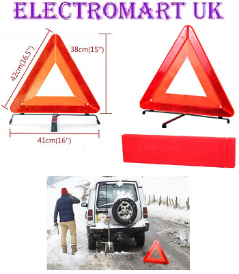 2 X Car Breakdown High Visibility Reflective Safety Warning Emergency Triangle