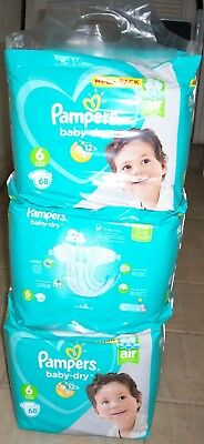 Couche Pampers baby-dry 6 13-18 kg 29-40 lbs Mega pack 204 couches lot1