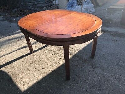 Antique Style Vintage Mahogany Dining Table with Tow Leafs