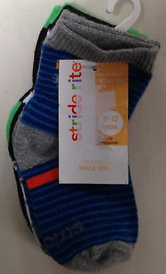 Nwt Stride Rite Girls Baby 3 Pairs Multi Color Socks 6-12 Months