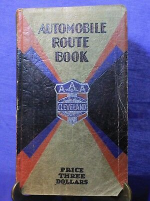 Vintage 1929 Cleveland AAA Automobile Route Book