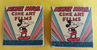 Disney Mickey Mouse 16mm film - 937-Z Mickeys Mixup + 928-Z Mickey Jungle Pals