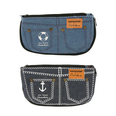 Creative Denim Pencil Case, Cosmetic Bag