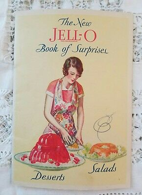 """Vintage 1930  """"The New Jell-O  Book of Surprises"""" 23 Pages """"#6753 Litho'd in USA"""